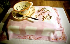 Handmade Fondant Tea Cup & Cake